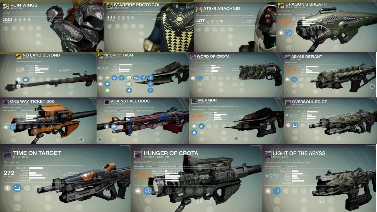 Destiny the dark below dlc new legendary exotic guns and armor