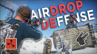 DEFENDING The AIRDROP from the LOOT HUNGRY ENEMIES! - Rust Solo Survival #3