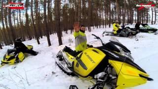 Школа горного вождения снегохода бундокинг, контрруление, траверс, Ванч-Ванч. 3 группа февраль 2016