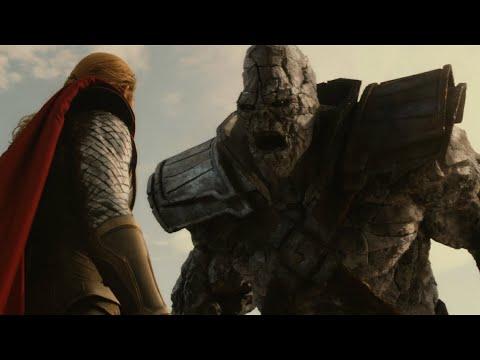 巨石人挑衅雷神,结果被雷神一锤打成石渣!科幻电影《雷神2》