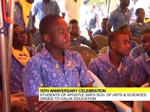 Video: Apostle Safo School of Arts and Sciences celebrate 10