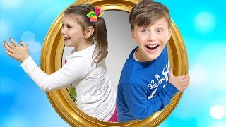 ALİ KARDEŞİYLE SİHİRLİ AYNADAN OYUN ALANINA GİRDİ! Magic Mirror to Indoor Playground, Pretend Play