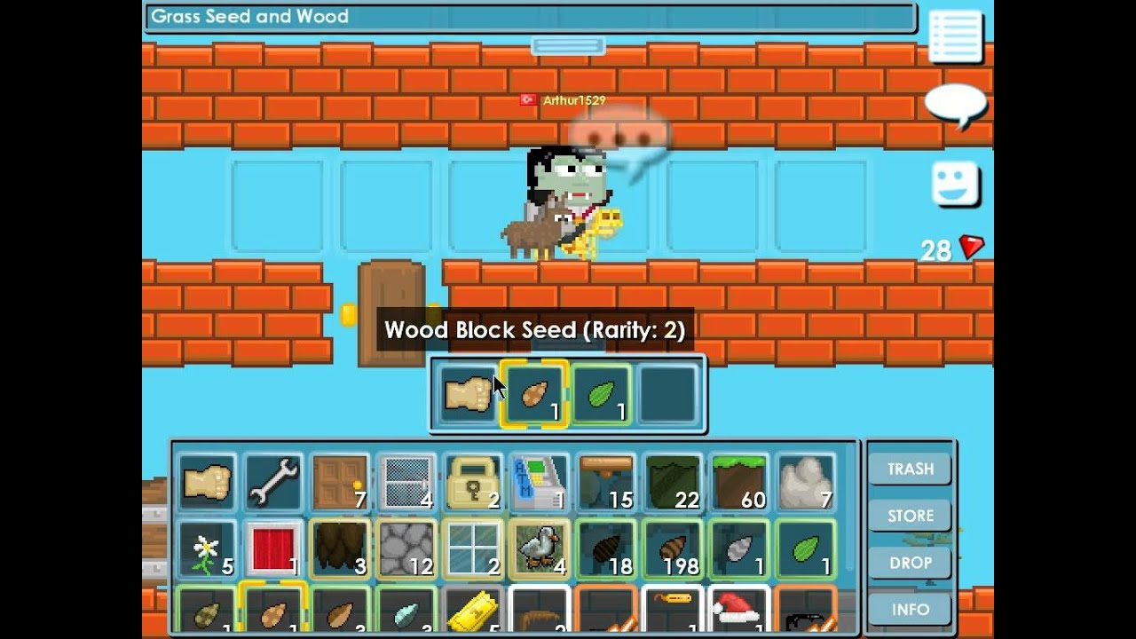 Growtopia How To Make Wooden Platform Tree Youtube
