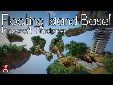 Minecraft Timelapse - Floating Island Base! (WORLD DOWNLOAD)
