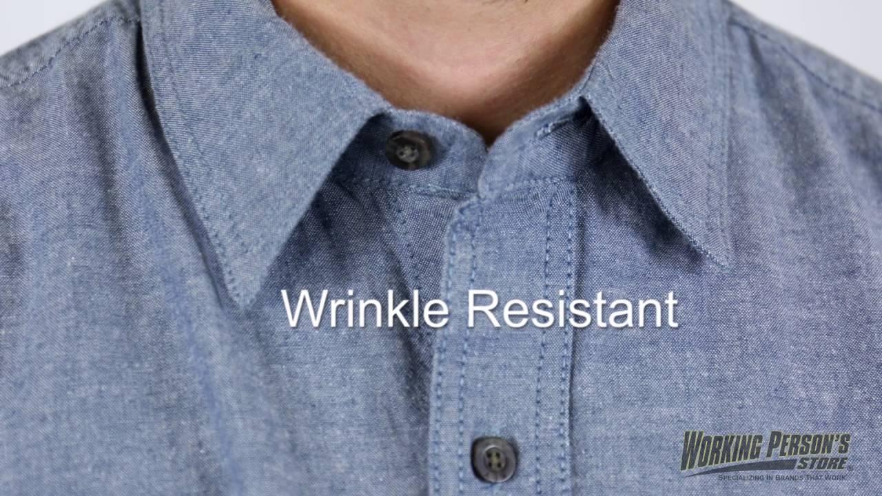 Key Shirts Mens Blue 507 45 Short Sleeve Chambray Cotton Work Shirt