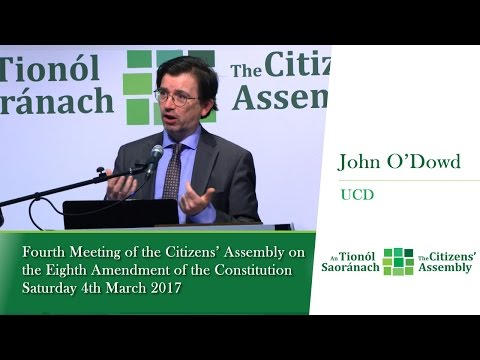 John O'Dowd, UCD - Citizens' Assembly (Saturday 4 March 2017)