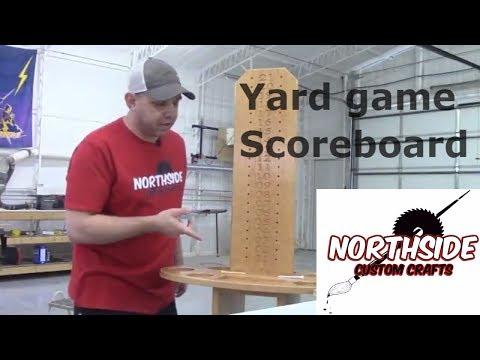 Yard Game Scoreboard / Cornhole / Horseshoes /Drink Holder