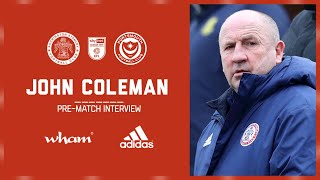 INTERVIEW: Coley previews tomorrow night's game against Portsmouth