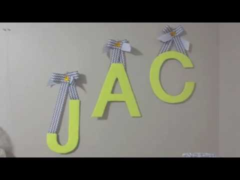 DIY How to make Wall Decor Fabric Letters on a budget 5 Eeasy steps!