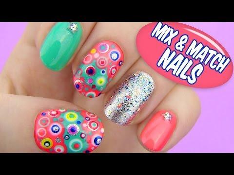 Mix and Match Nails - Dotted Nail Art