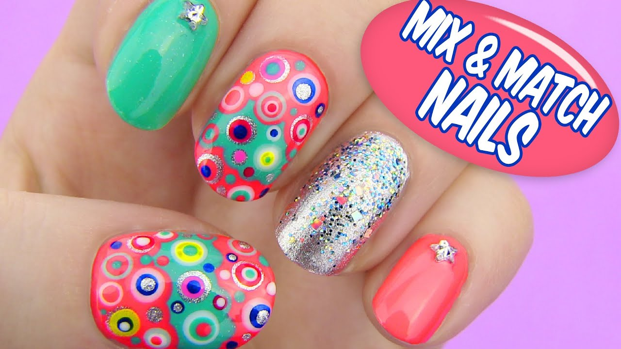 Cute Henna Wallpapers Mix And Match Nails Dotted Nail Art Youtube