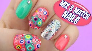 Mix and Match Nails - Dotted Nail Art Thumbnail
