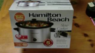 Hamilton Beach Slow Cooker Unboxing Crook Pot 33140VCR