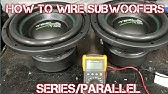 Wiring Two Subwoofers DVC 4 Ohm - 1 Ohm Parallel vs 4 Ohm