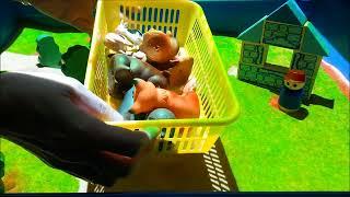 Интерактивная песочница - игрушка для больших людей. Дикие и домашние животные.