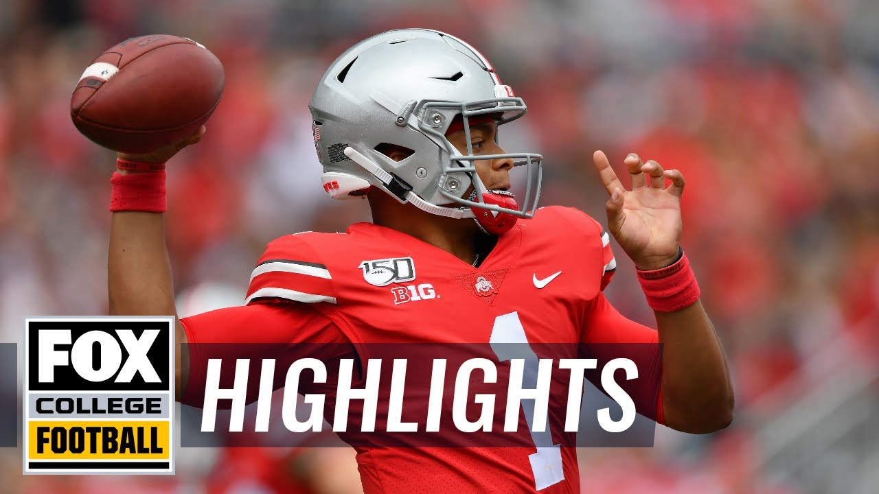 Watch all of Ohio State QB Justin Fields' TDs this season (so far)  COLLEGE FOOTBALL HIGHLIGHTS