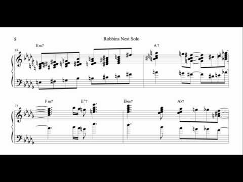 Hank Jones - Transcription - Robbins Nest Solo
