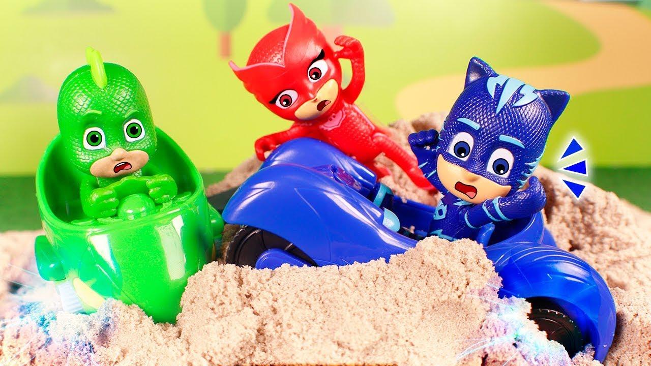 pj masks toys ⚡ adventures with the pj masks ⚡😱⚡  youtube