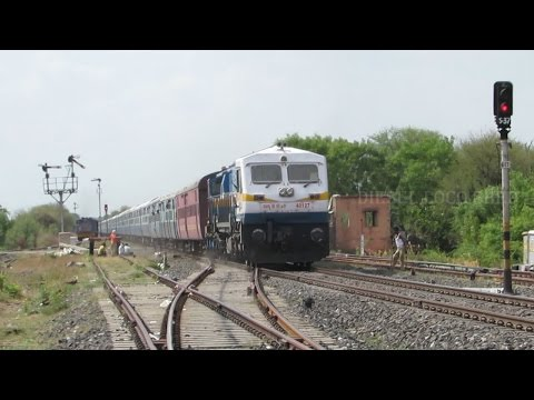 BG MG Double OVERTAKE - Indian Railways