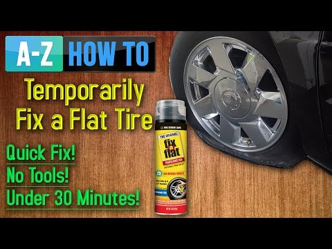 how-to-fix-a-flat-tire---inflating-tire-with-fix-a-flat-can!