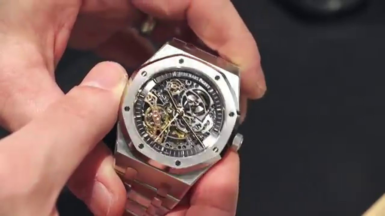 8e17f3a03b4 Audemars Piguet Royal Oak Double Balance Wheel Openworked Watch Hands-On |  aBlogtoWatch - YouTube