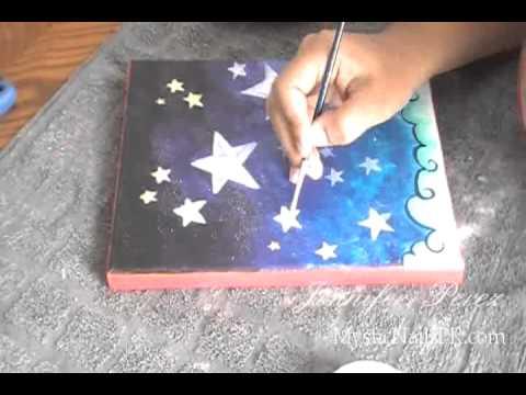 EASY Acrylic Stars Kids Painting Art DIY :::.. Jennifer ...