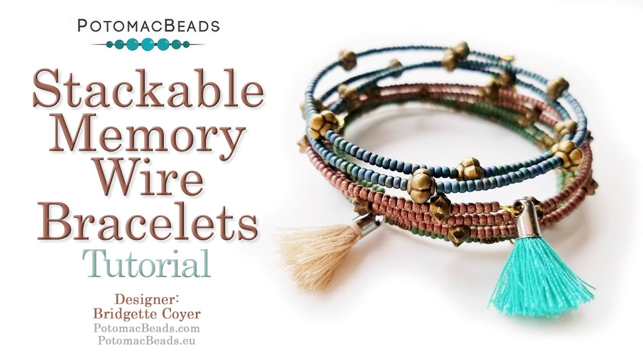 Stackable Memory Wire Bracelets Tutorial