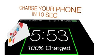 Charged android phone 100%  in 10 second
