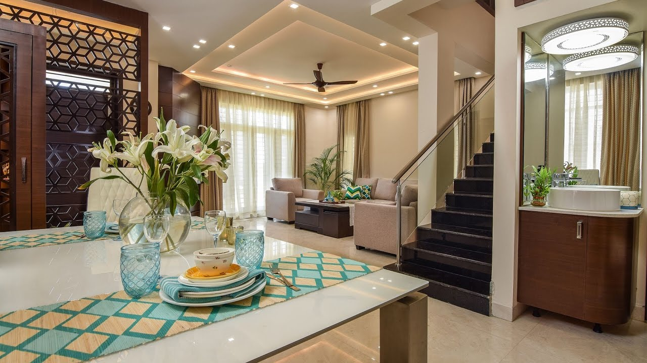 Shwetha binod 39 s jr greenwich villa interiors bangalore for Villa lotto interior design