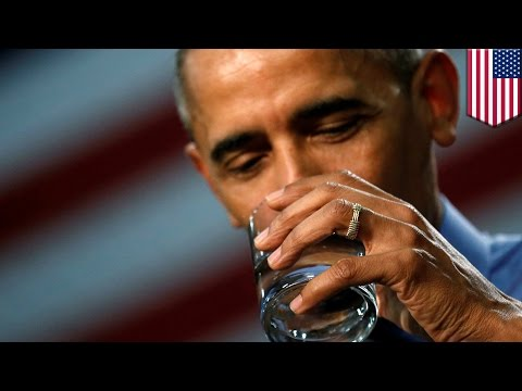 Flint water crisis: President Obama drinks filtered water during press conference