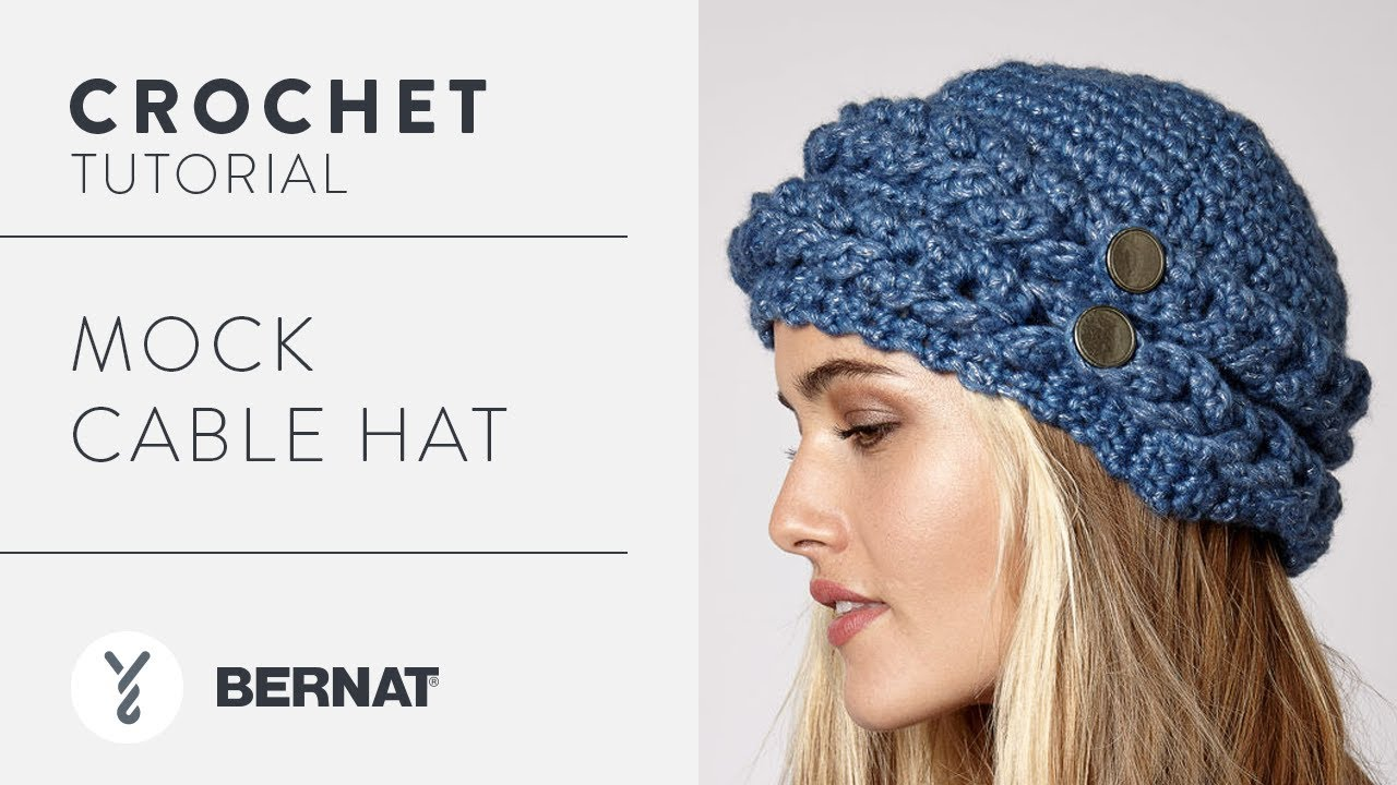 a4af4e8e8dd Crochet A Hat  Mock Cable Hat - YouTube