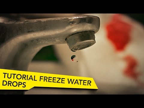 After Effects Tutorial - Freeze Water Drops in Space