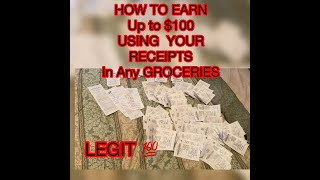 HOW TO EARN $100 USING RECEIPT FROM GROCERIES 💯 Legit mga beshy at momshie