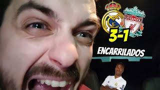 🤯¡¡EXPLOTO DESPUÉS DE ESTE BAÑO!! • REAL MADRID 3-1 LIVERPOOL • BRUTAL VINICIUS Y PIDO PERDÓN