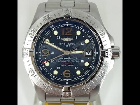 Breitling Superocean Steelfish A17390 Blue Dial
