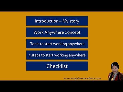 Webinar Work Anywhere by Anita Adnan MegabaseAcademy.com