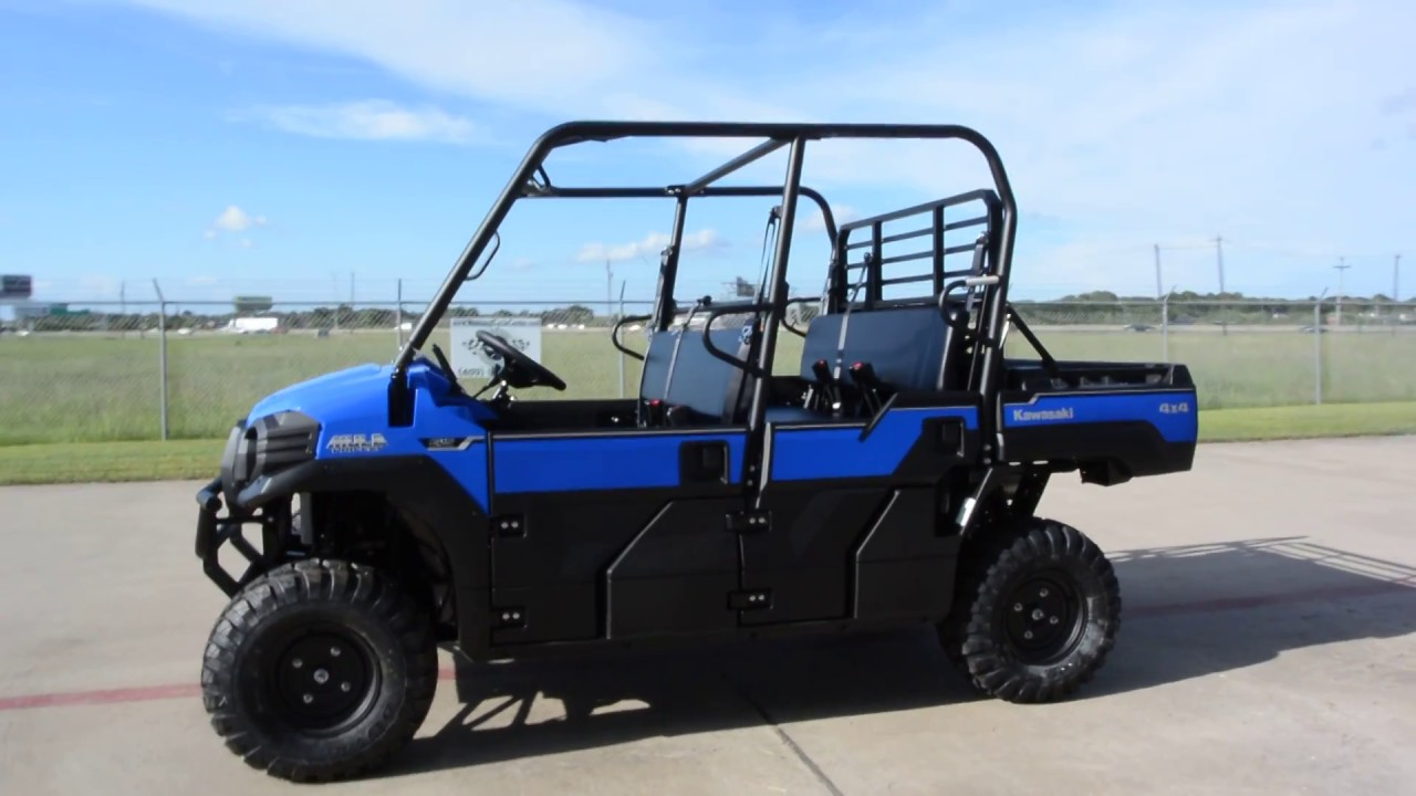 $14,799: 2017 kawasaki mule pro fxt eps in vibrant blue overview