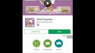 Modi Key Note App