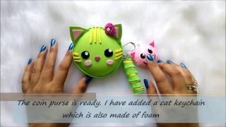 EASY KAWAII FOAM COIN PURSE (CAT)