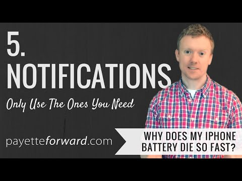 Why Does My iPhone Battery Die So Fast? 5. Notifications: Only Use The Ones You Need