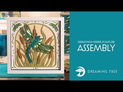 SVG File - Dragonfly Paper Sculpture - Assembly Video