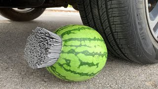 Experiment Car vs A lot of Sparklers vs Watermelon | Crushing Crunchy & Soft Things by Car | Test S