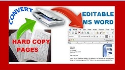 how to edit a scanned document