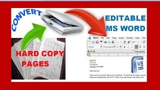 how to edit a scanned document streaming