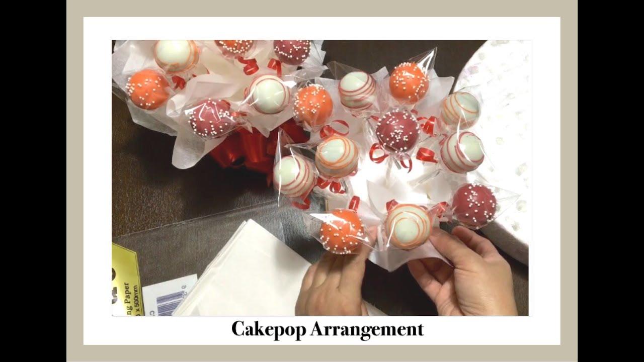 How to display cakepops cakepops gift box bouquet arrangement how to display cakepops cakepops gift box bouquet arrangement mix pops cakes izmirmasajfo