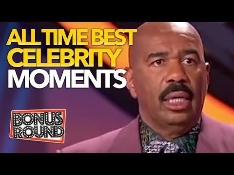 STEVE HARVEY FAMILY FEUD BEST & MOST VIEWED CELEBRITY MOMENTS EVER - Bonus Round