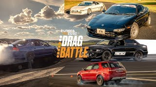 Evo vs WRX - Falcon vs RS3 - Supra vs VL - MR2 vs the World! 2019 Tuners Edge Drag Battle