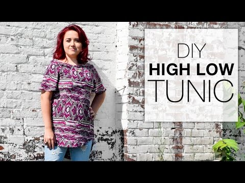 DIY High Low Tunic Tutorial Free Pattern YouTube Amazing Tunic Pattern Free