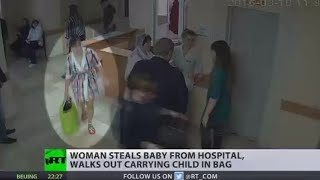 Russian baby snatcher: Mom steals someone else's child in a shopping bag