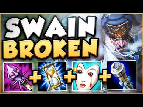NEW REWORKED SWAIN IS ACTUALLY 100% BUSTED ON LIVE SERVERS! REWORKED SWAIN TOP! - League of Legends
